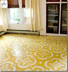 Painted & stenciled floors by designaustin.blogspot.com