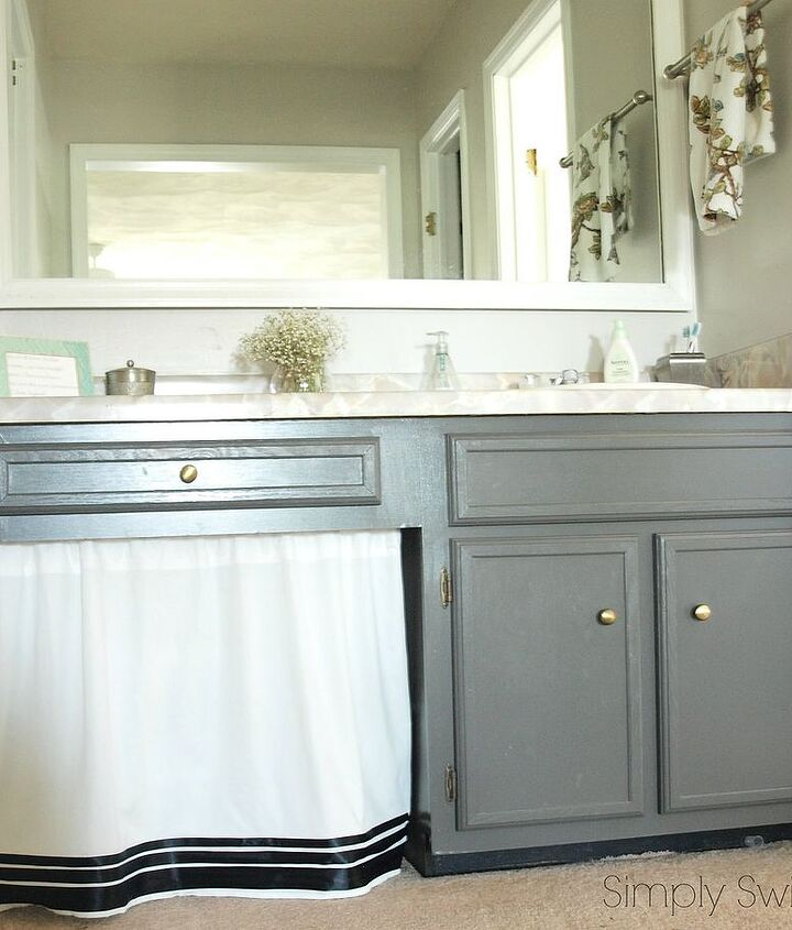 how one blogger revamped her bathroom for free, bathroom ideas, diy, home decor, painting
