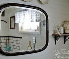 farmhouse bathroom remodel, bathroom ideas, home decor, home improvement, This antique mirror is perfect for an old farmhouse bathroom