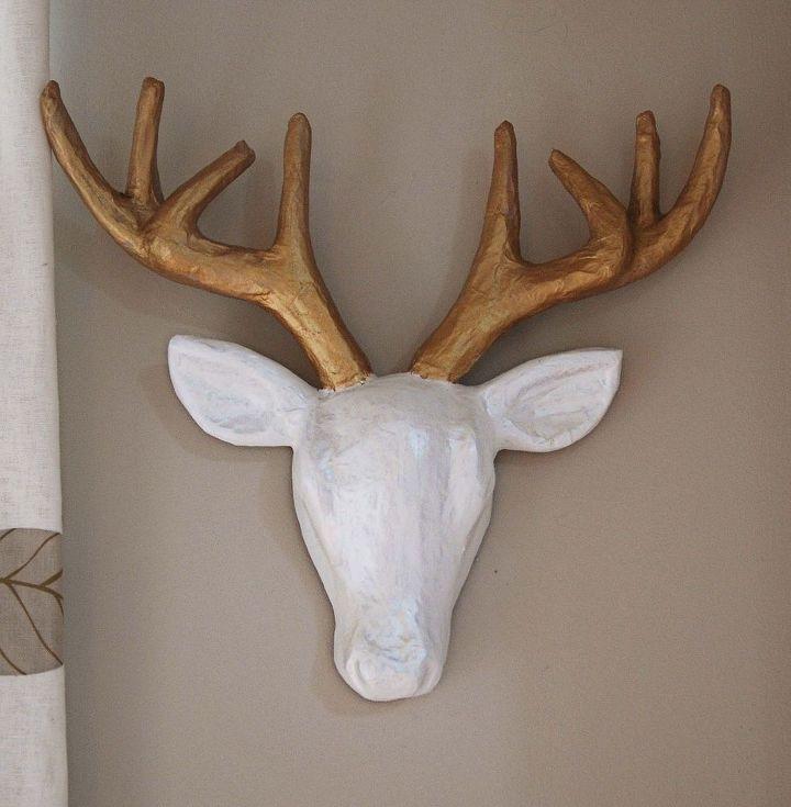 faux deer head diy, crafts, home decor
