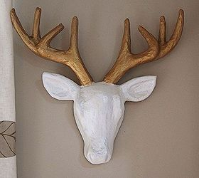 Paper Mache Ideas For Home Decor Part - 46: Faux Deer Head Diy, Crafts, Home Decor