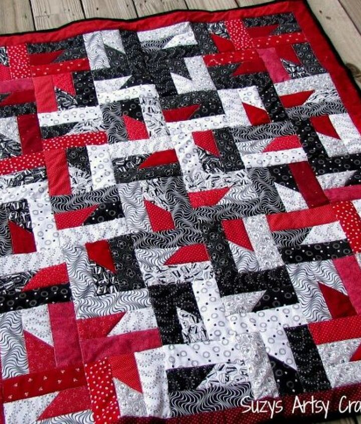 free quilt pattern and tutorial, crafts, Free quilt pattern and tutorial Windmills at Night