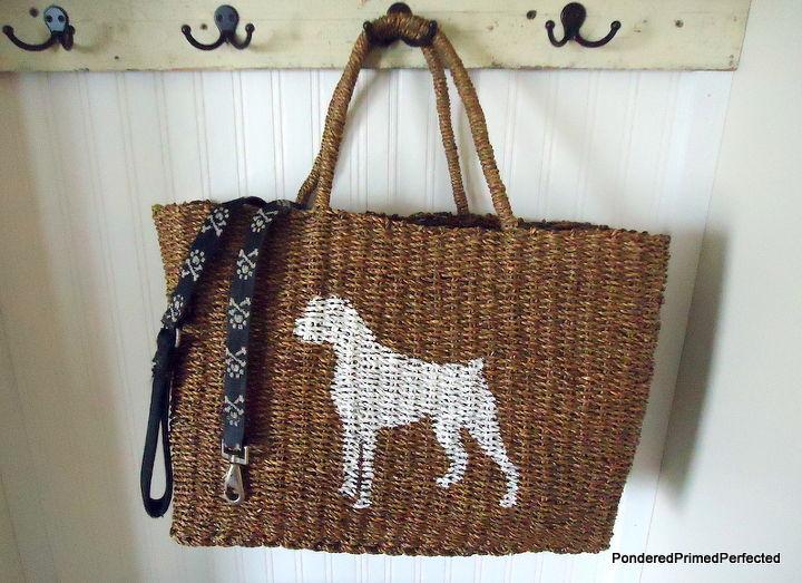 Doggy bag, rieten tas