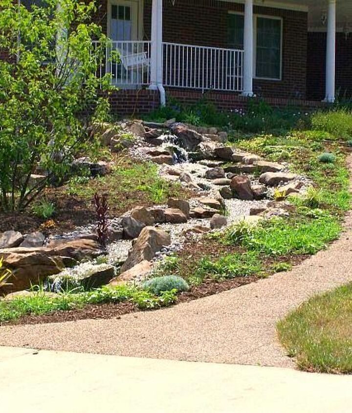 The finished product.  A wonderful Pondless Waterfall to accent your yard!