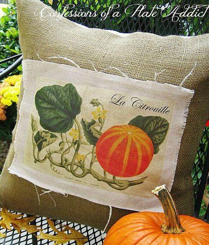 Vintage French Pumpkin Pillow