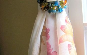 Cool Use for Napkin Rings.....As Drapery Hold Backs