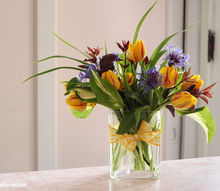 bouquets on a budget create beautiful flower arrangements for 5 and greens from, crafts, In a few simple steps you can create your own beautiful centerpieces for so much less then you can by at the florist