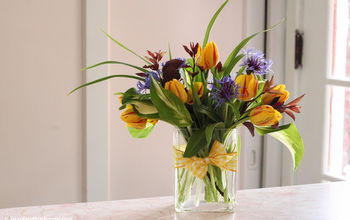 Bouquets on a Budget! Create beautiful flower arrangements for $5 and greens from your own yard.