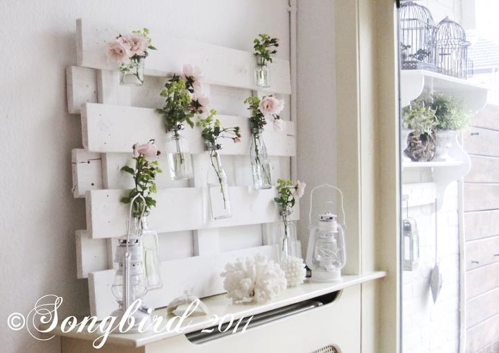 lots of variations possible with this pallet wood mantel decor, diy, home decor, how to, pallet, repurposing upcycling, This image shows a bit better how the mantel looked from a distance Pretty good I can say
