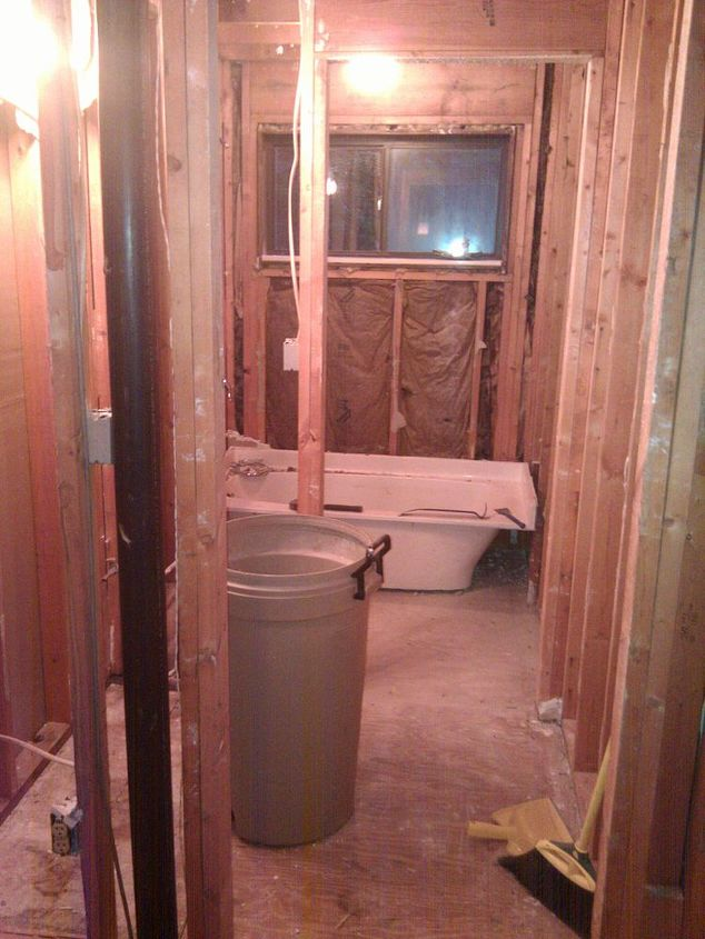 complete bath re do flipped the layout punched out a wall modern amp, bathroom, remodeling