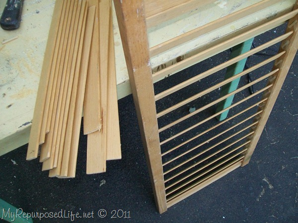 I had all of these slats left over.