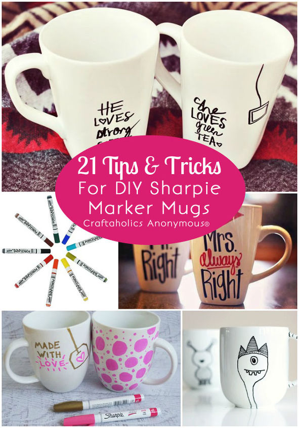 21tips tricks for diy mug designs with colorful sharpie markers, crafts, Photo courtesy of craftaholicsanonymous net