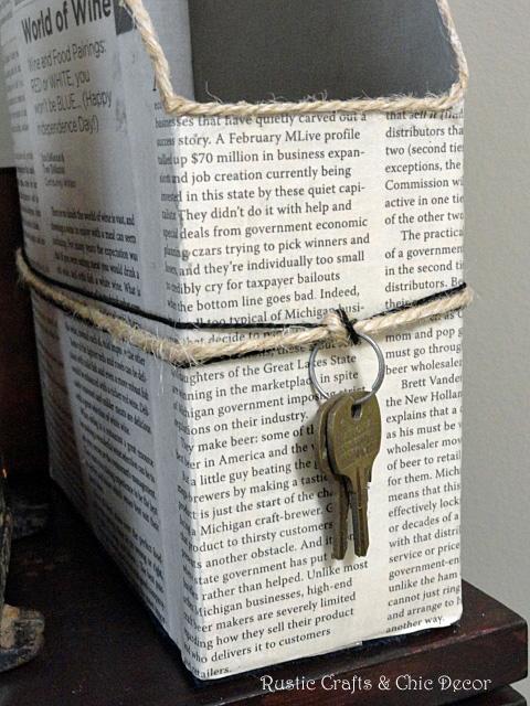 cereal box paper holder, crafts