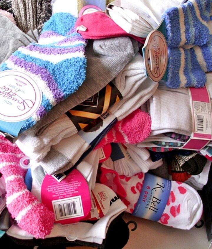 We are receiving a variety of socks, including slipper socks, gym socks, diabetes support socks, thermal socks, baby socks, thick socks for outdoors and workboots, athletic socks, cute toddler socks, womens and mens dress socks...