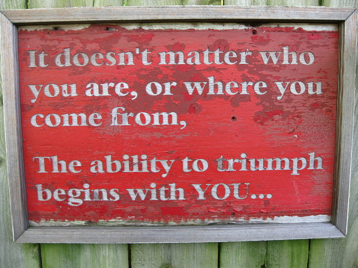 It doesn't matter who you are, or where you come from, the ability to triumph begins with YOU...