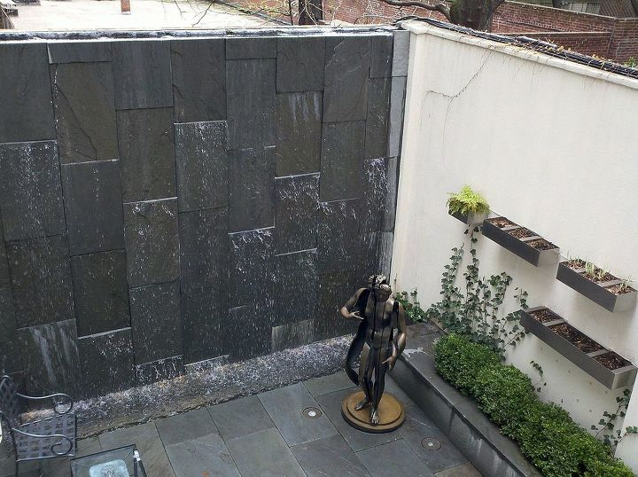 NYC water wall and pond project designed and built by Deck and Patio Company www.deckandpatio.com
