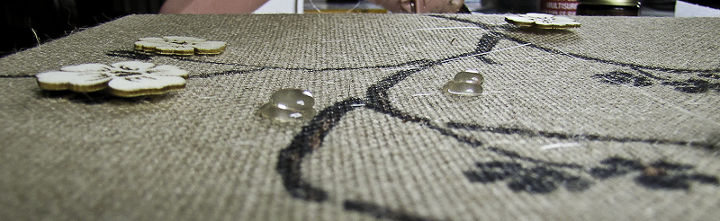 two dimensional asian inspired burlap artwork, crafts