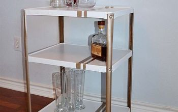 bar cart makeover, painted furniture