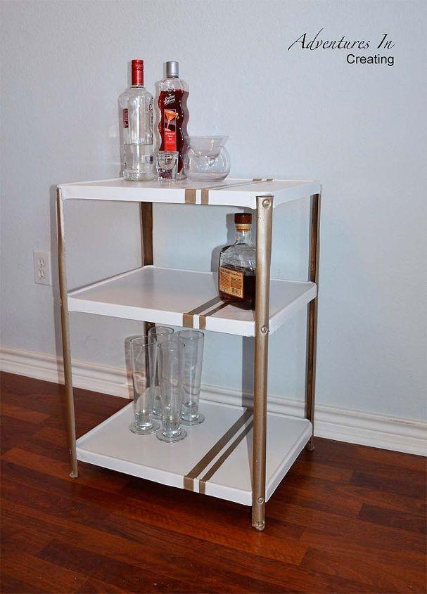 bar cart makeover, painted furniture
