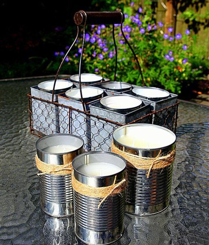 Twine can be used to decorate crafts like these citronella CANdles http://gardentherapy.ca/diy-citronella-candles/