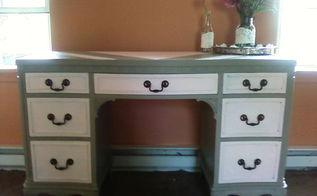 vintage vanity redo, painted furniture, Front detail