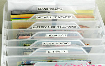 Organizing My Craft Room - Greeting and Craft Card Organizer