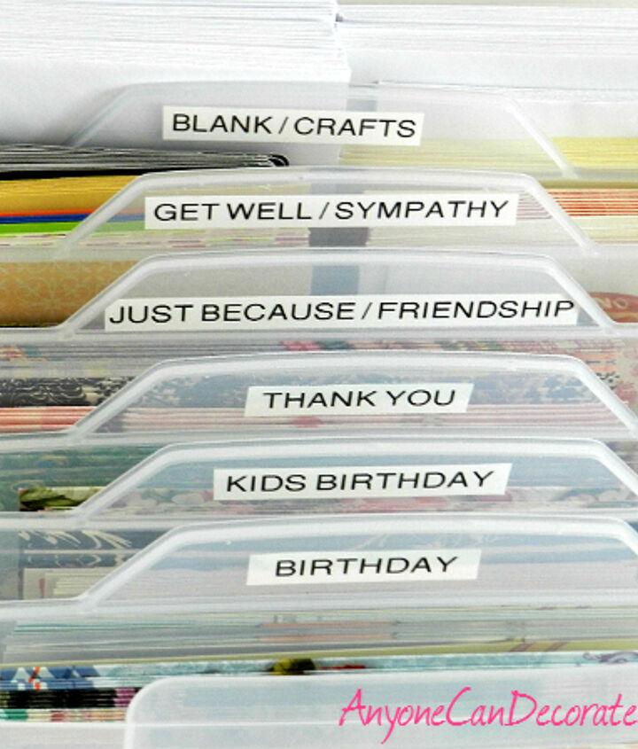 I'm feeling so accomplished after organizing my greeting cards...