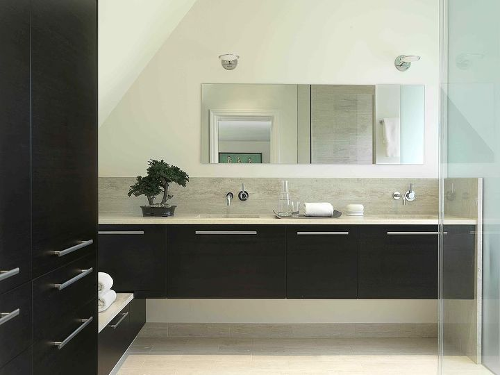 Newly configured Master Bathroom.