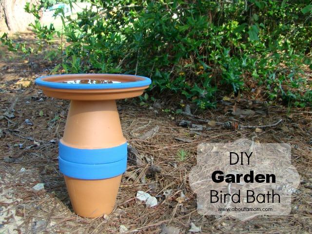 diy garden bird bath project, crafts, gardening, outdoor living, DIY Garden Bird Bath