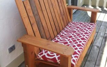 repurposed pallet into a do it yourself bench, diy, outdoor furniture, painted furniture, pallet, repurposing upcycling, Repurposed Pallet into a Do It Yourself Bench