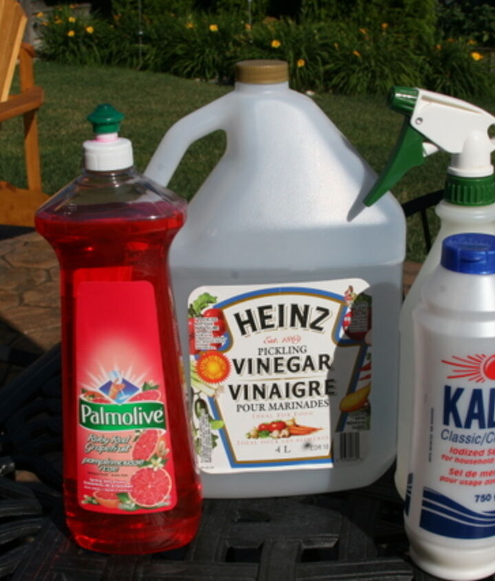 amazing weed killer made with items you will find in your kitchen really works, gardening, outdoor living