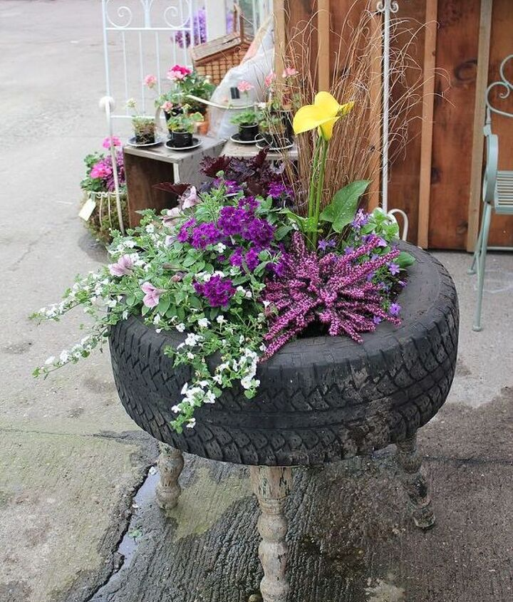 This Raised Tire Planter adds a quirky conversation piece to any garden for under $20