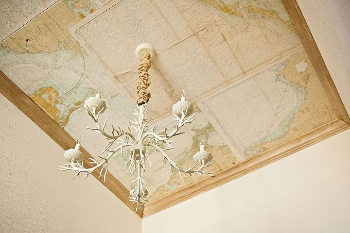Map Ceiling was created using my dad's old nautical maps...