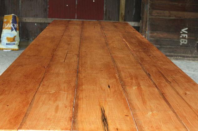 barn trestle table project hometalk