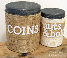 diy storage from recycled christmas tins, crafts, repurposing upcycling