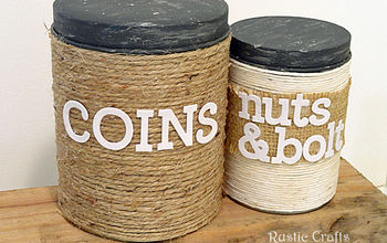 DIY Storage From Recycled Christmas Tins