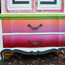 bath and body line inspired, painted furniture