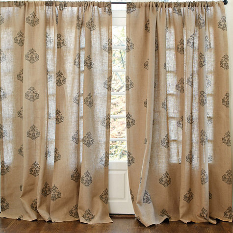 How To Stencil Curtains Learn From My Mistakes Crafts Reupholster Window Treatments These Ballard Designs