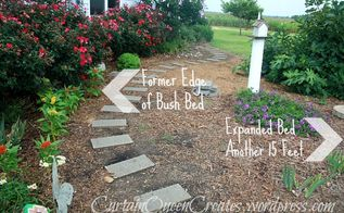 5 steps to a new perennial herb garden, flowers, gardening, perennials, This shows the completed picture of expanded area for the new perennial herb garden Using ground covers between plantings reduces need for mulch Add a garden bench where you can rest and enjoy your new space