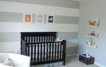 orange and gray nursery, bedroom ideas, home decor