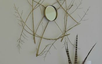 DIY Tree Branch Mirror Knockoff for Less Than $3.00