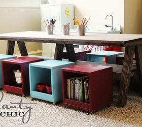 i built a kids table for my playroom hometalk rh hometalk com Playroom Craft Table Small White Table