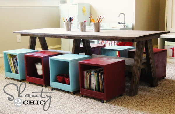 I Built A Kids Table For My Playroom Diy How To Painted Furniture