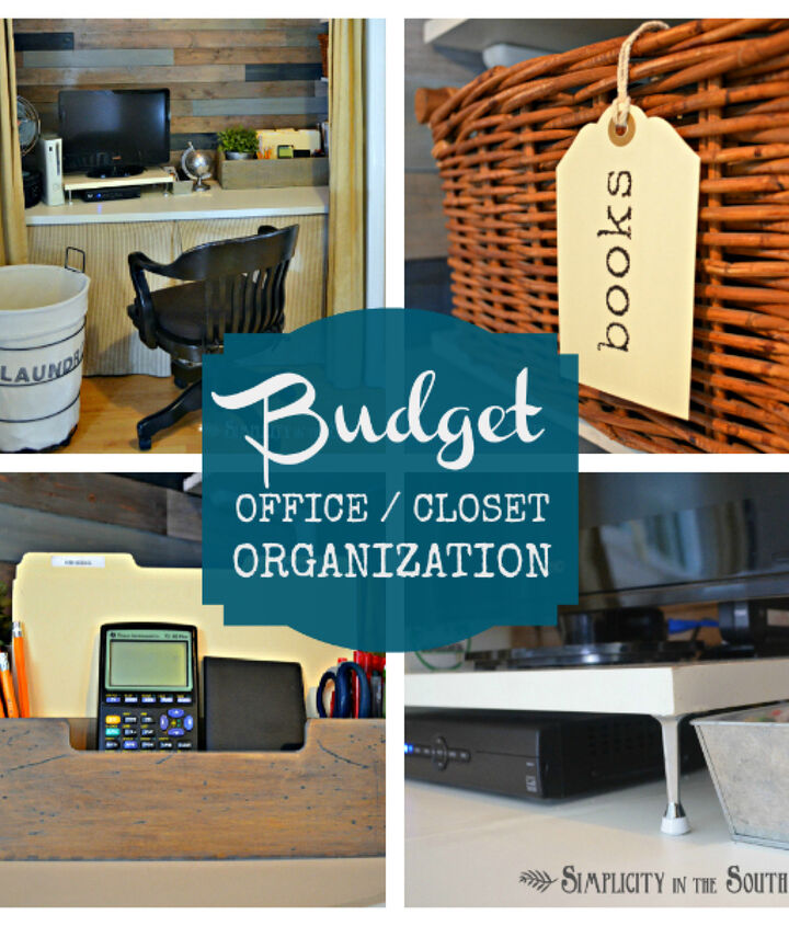 organization on a budget small home big ideas for an office in a closet, craft rooms, home office, organizing