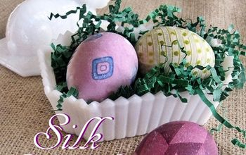 dye your easter eggs using old silk ties and scarves, crafts, easter decorations, seasonal holiday decor, Old silk ties lend their colors and patterns to eggs resulting in fun and different Easter eggs