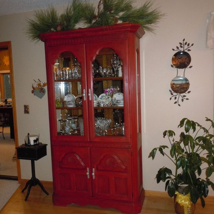80 s hutch, chalk paint, painted furniture, AFTER