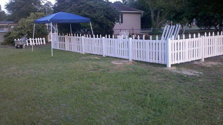 The fence is almost finished.