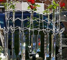 Garden Chandelier Made From Wire Garden Fencing, Crafts, Outdoor Living,  Repurposing Upcycling,