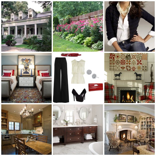 The step in this process was creating this personal style board.  Simply collect images that you LOVE and create a photo collage. Suddenly, your style becomes very evident.  I'd say my style is best defined as casual elegance.