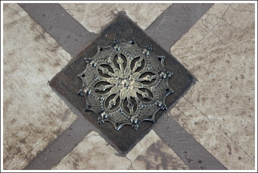 faux tile backsplash, diy, how to, kitchen backsplash, kitchen design, tiling, I found this little metal piece in the jewelry aisle at the craft store Everything looks a little better with a little bling